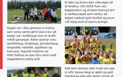 Kveðja frá frjálsíþróttadeild Hattar